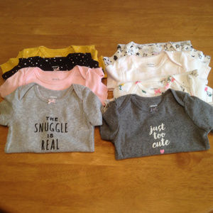 NEW - Carter's Infant Onsie Bundle